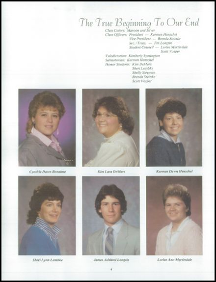 1986 Neche High School Yearbook Page 8