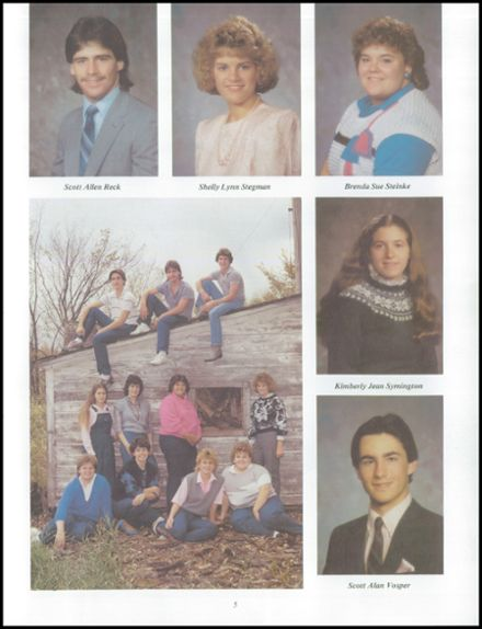 1986 Neche High School Yearbook Page 9