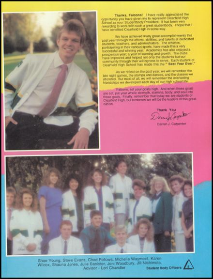 1989 Clearfield High School Yearbook Page 9