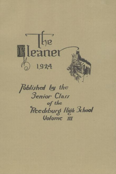 1924 Reedsburg High School Yearbook Page 7