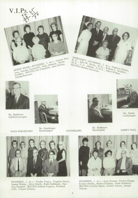 1969 Kansas State School for the Deaf Yearbook Page 6