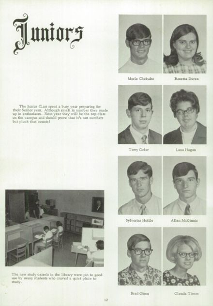 1969 Kansas State School for the Deaf Yearbook Page 9