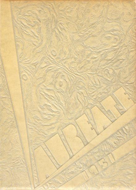 1951 Brown High School Yearbook Cover