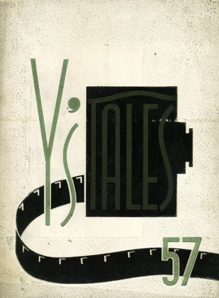 1957 York Community High School Yearbook Cover