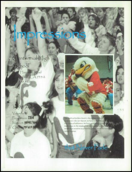 1998 Centennial High School Yearbook Page 5