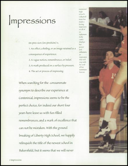 1998 Centennial High School Yearbook Page 6