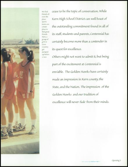 1998 Centennial High School Yearbook Page 9