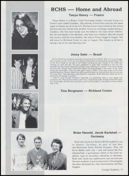 1991 Richland Center High School Yearbook Page 7