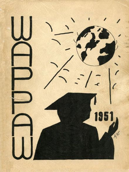 1951 Paw Paw High School Yearbook Cover