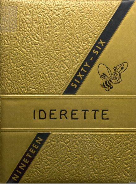 1966 Ider High School Yearbook Cover