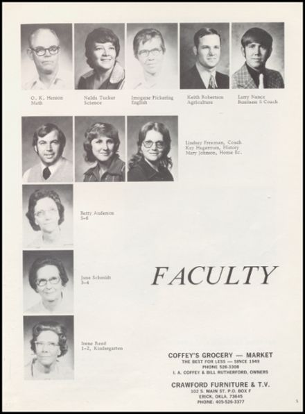 1976 Sweetwater High School Yearbook Page 9