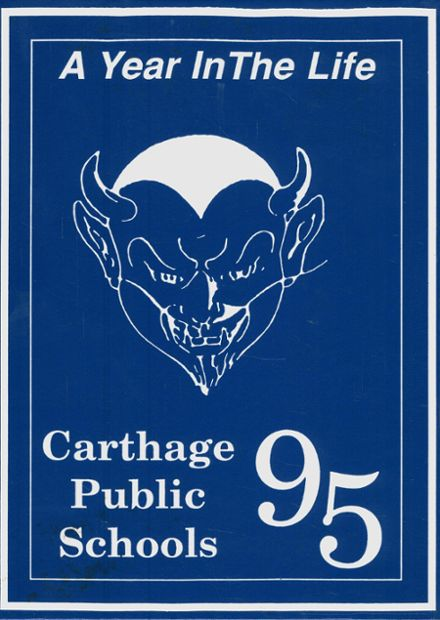 1995 Carthage High School Yearbook Cover