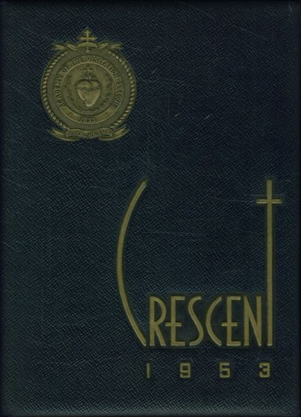 1953 Visitation Academy Yearbook Cover