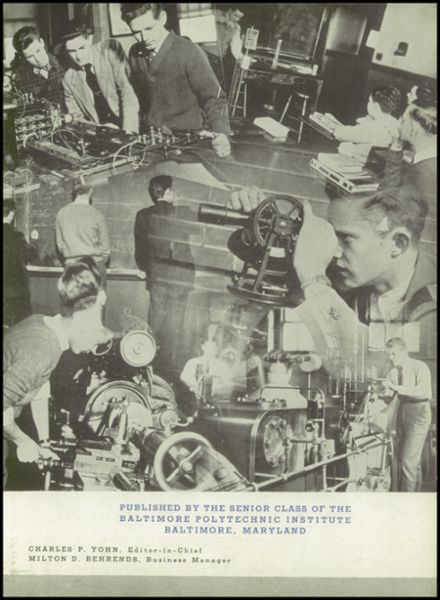 1945 Baltimore Polytechnic Institute 403 Yearbook Page 7