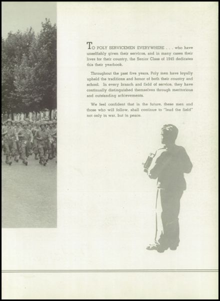 1945 Baltimore Polytechnic Institute 403 Yearbook Page 9