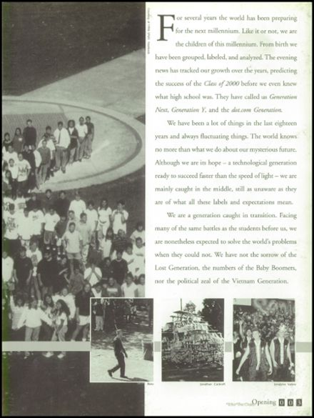 2000 South Pasadena High School Yearbook Page 7