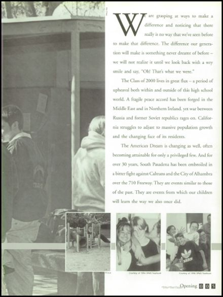 2000 South Pasadena High School Yearbook Page 9