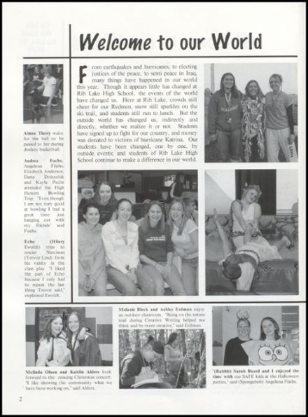 2006 Rib Lake High School Yearbook Page 6