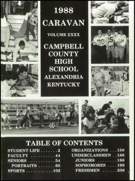 1988 Campbell County High School Yearbook Page 5