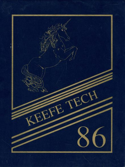 1986 Keefe Technical High School Yearbook Cover