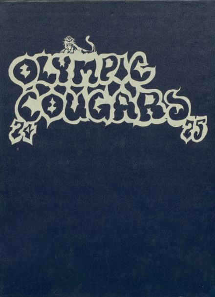 1975 Olympic Junior High School Yearbook Cover