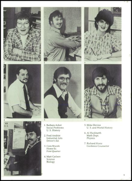 1983 Rib Lake High School Yearbook Page 9