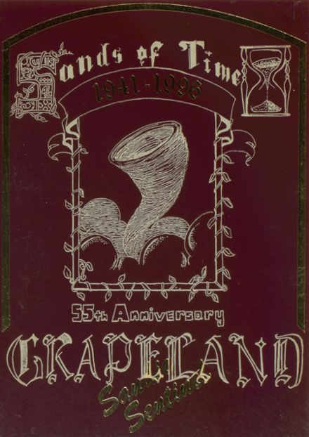 1996 Grapeland High School Yearbook Cover
