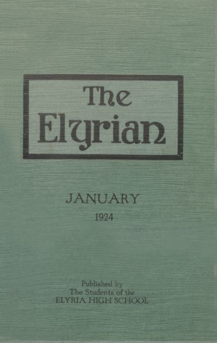 1924 Elyria High School Yearbook Cover