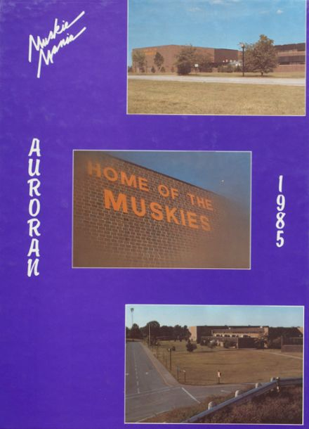 1985 Muscatine High School Yearbook Cover