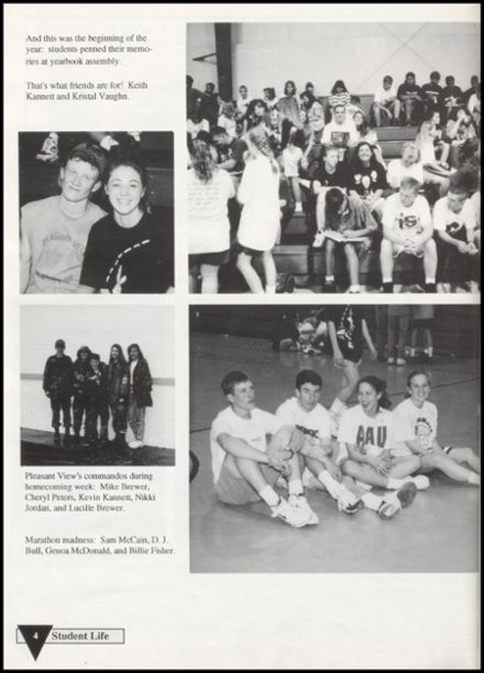 1994 Pleasant View High School Yearbook Page 8