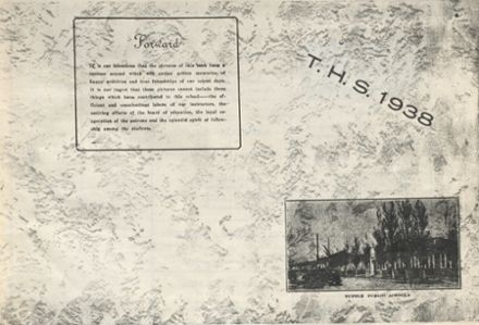 1938 Tuttle High School Yearbook Cover