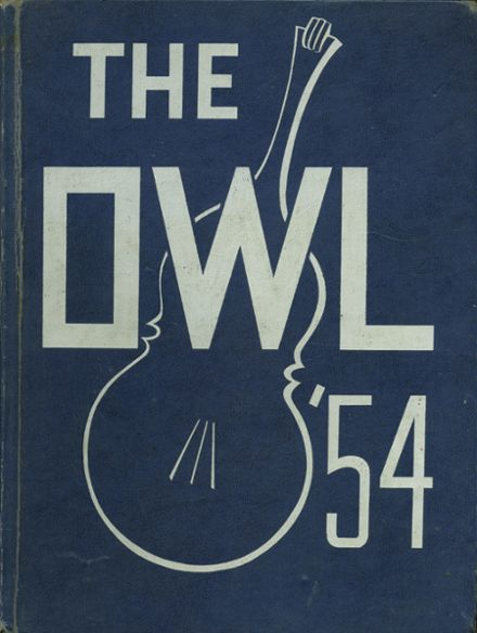 1954 Westminster High School Yearbook Cover