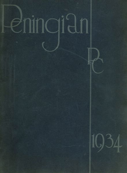 1934 Port Chester High School Yearbook Cover