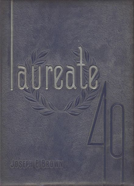 1949 Brown High School Yearbook Cover