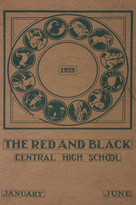 1929 Central High School Yearbook Cover