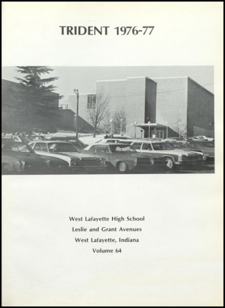 1977 West Lafayette High School Yearbook Page 5