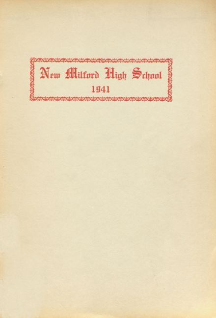 1941 New Milford High School Yearbook Page 1