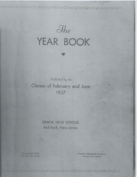 1937 Red Bank High School Yearbook Cover