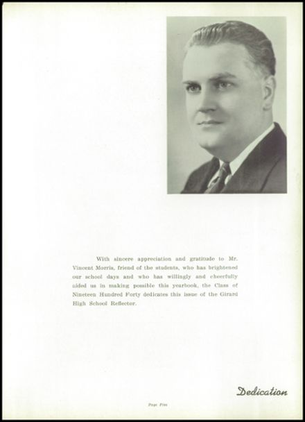 1940 Girard High School Yearbook Page 9