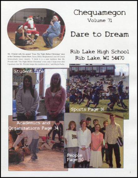 2008 Rib Lake High School Yearbook Page 5
