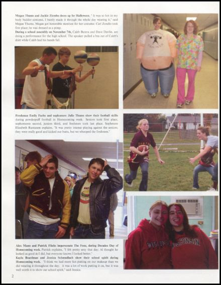 2008 Rib Lake High School Yearbook Page 6