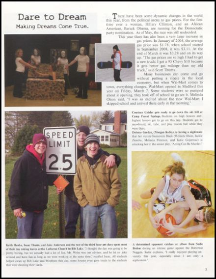2008 Rib Lake High School Yearbook Page 7