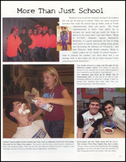 2008 Rib Lake High School Yearbook Page 9