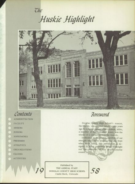 1958 Douglas County High School Yearbook Page 5