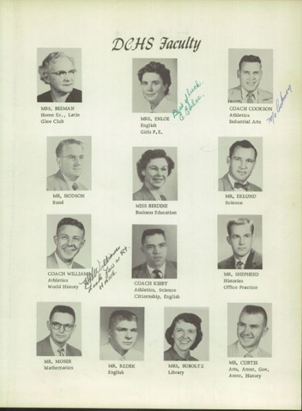 1958 Douglas County High School Yearbook Page 9