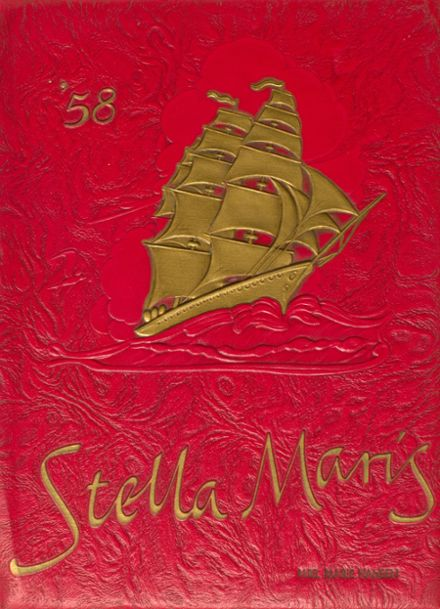 1958 Mary Star of the Sea High School Yearbook Cover