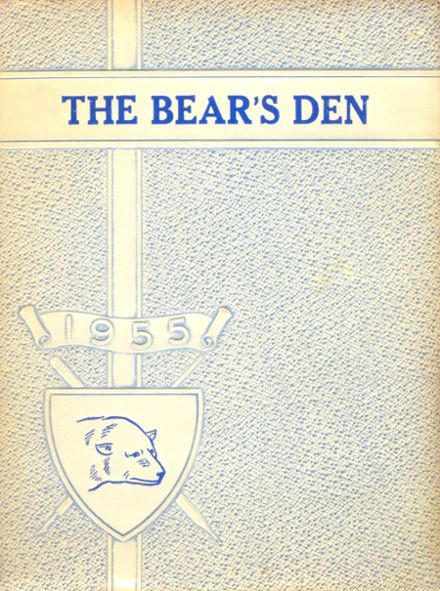 1955 Frost High School Yearbook Cover