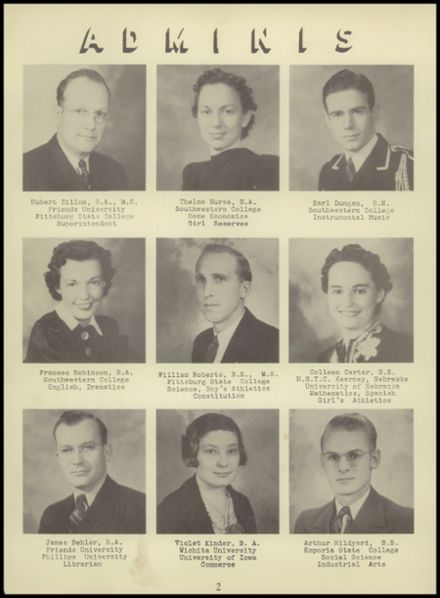 1941 Fowler High School Yearbook Page 8