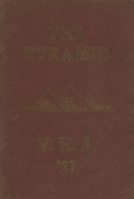 1927 Vernon-Verona-Sherrill High School Yearbook Cover