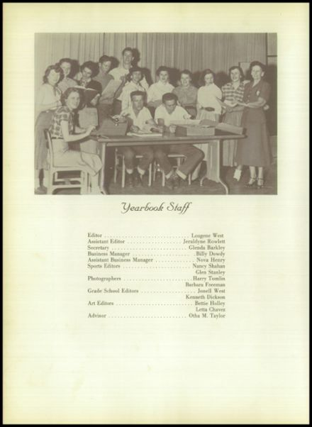 1955 Whitehouse High School Yearbook Page 8